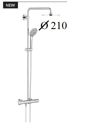 grohe euphoria xxl system 210 zestaw deszczownica z termostatem zestawy baterii promocyjne. Black Bedroom Furniture Sets. Home Design Ideas